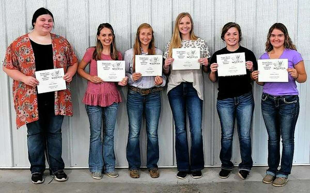 The Morgan County 4-H Foundation held its auction dinner July 12. During the dinner, the foundation presented six scholarships, each worth $750, to Sophie Robinson, Mollie Allen, Paige Hadden, Katie White, Skylar Bartz and Meghan Hadden.
