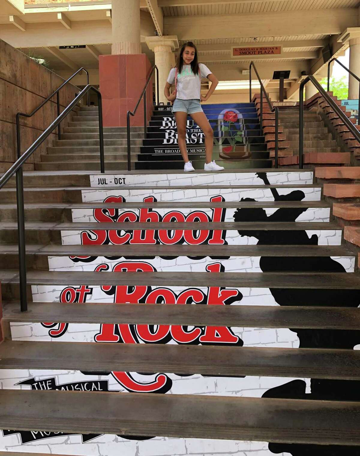 """Taya Diggs, 12, of North Haven, at the Tuacahn Center for the Arts in Ivins, Utah, where she landed a role in the Broadway musical """"School of Rock."""""""