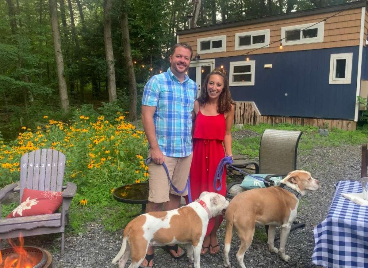 Jessica and Todd Palmer have lived in their Greene County tiny home, totaling only 240 square feet, since 2018 after leaving Albany. The lifestyle change has enabled them to live more sustainably, they say, while gaining the freedom to travel the world.