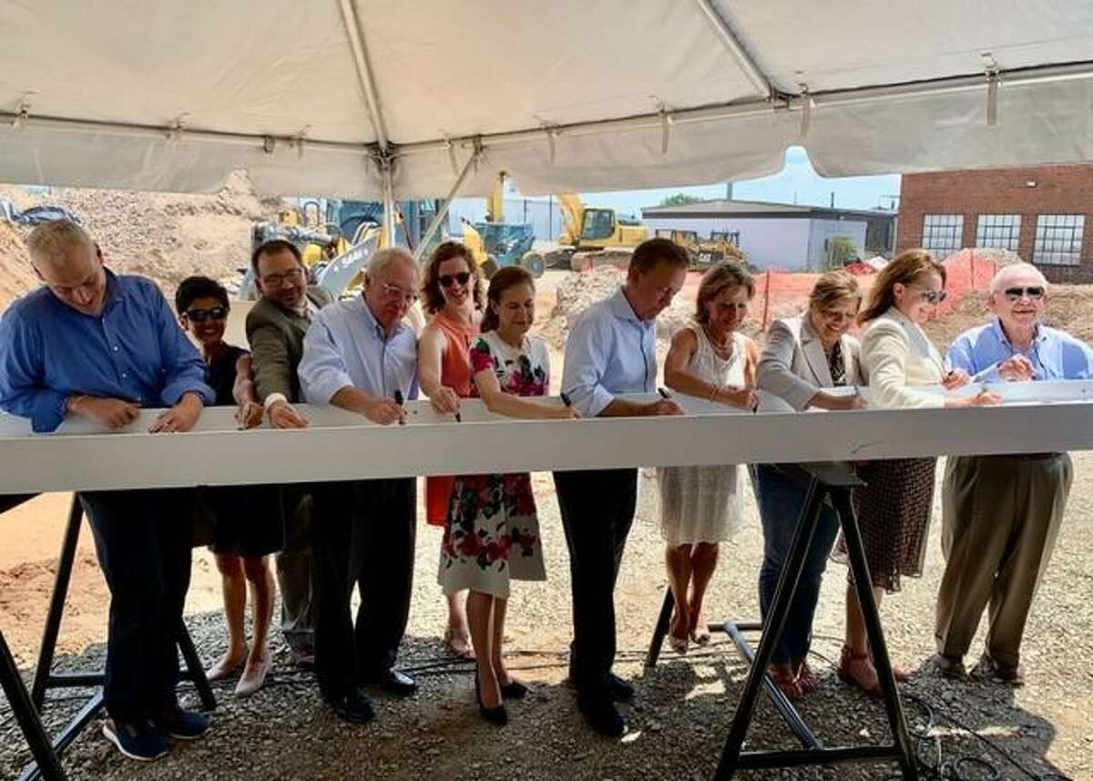 Gov. Ned Lamont recently joined local and state officials for the ceremonial beam signing for 540 New Park, Trout Brook Realty Advisors' $20 million mixed-use, mixed-income residential and retail development in West Hartford.