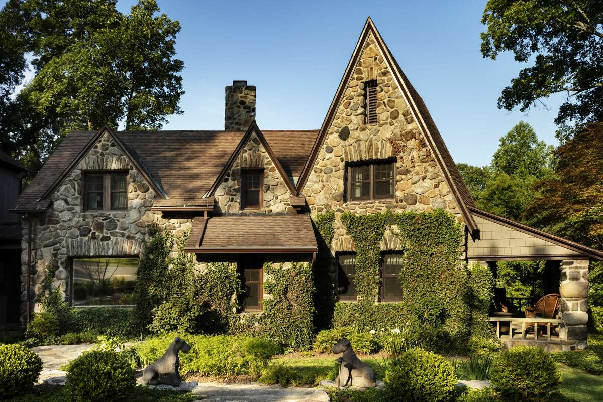 The 1928 English Cotswold cottage at 38 Glen Hill Road in Redding is on the market for $1,399,000.