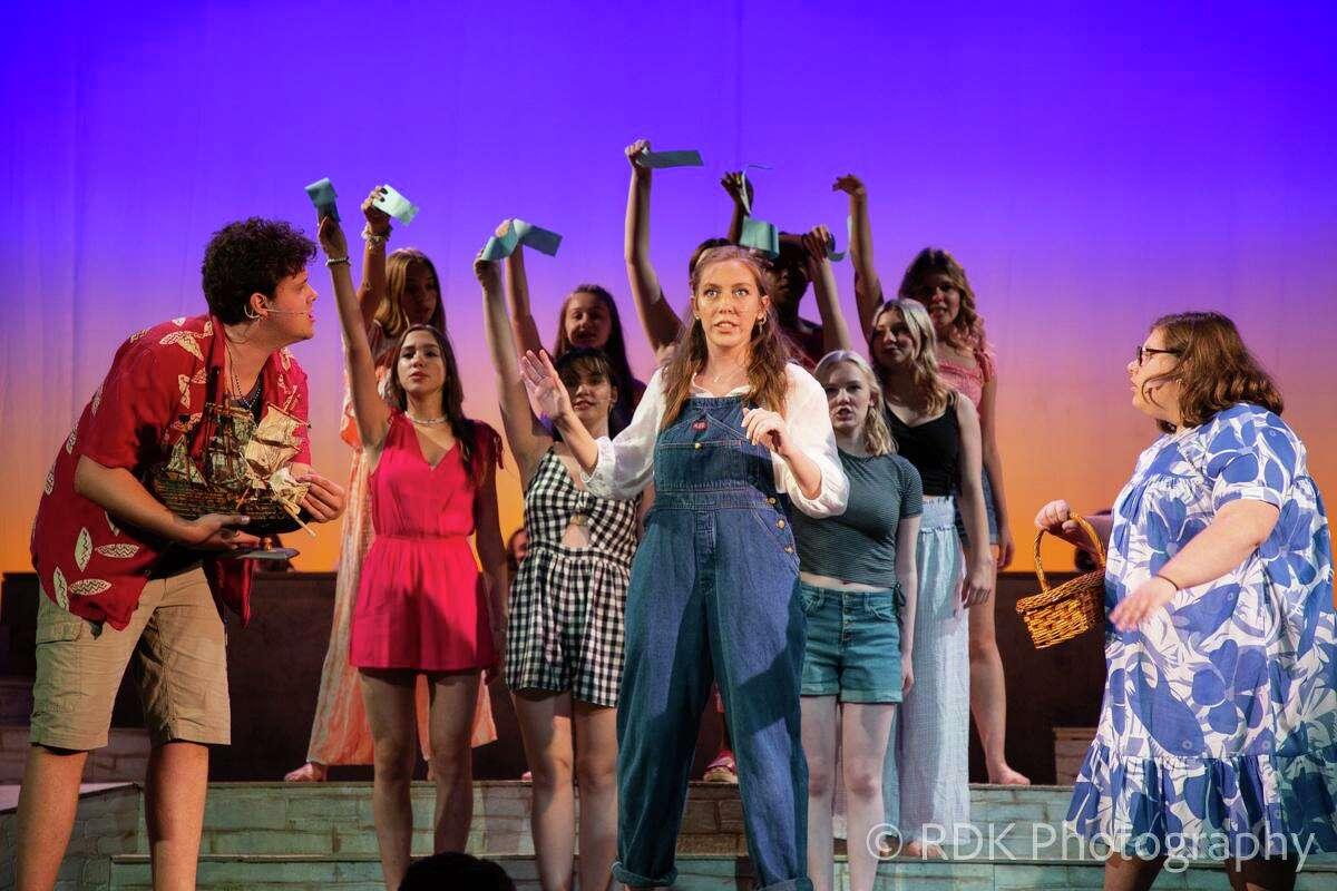 """Cast members of the West Hartford Summer Arts Festival perform """"Mama Mia"""" in the new, expanded Welcome Back West Hartford festival."""