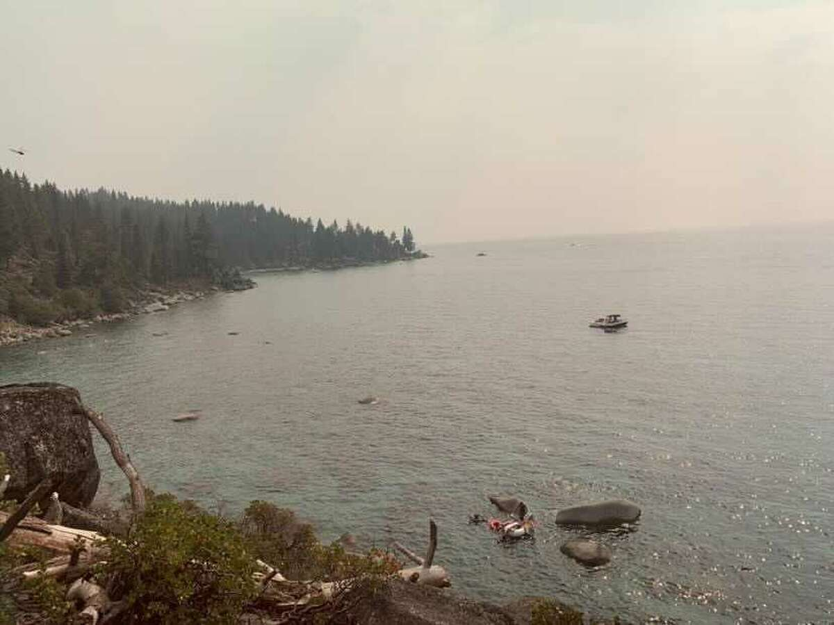 Jonah Mack photographed the smoky conditions at Lake Tahoe on Sunday July 25, 2021.