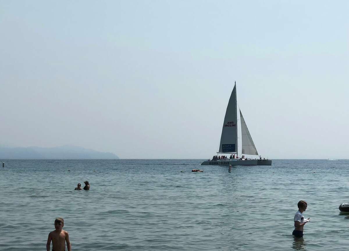 The Lake Tahoe Basin was shaken in with wildfire smoke on July 23, 2021.