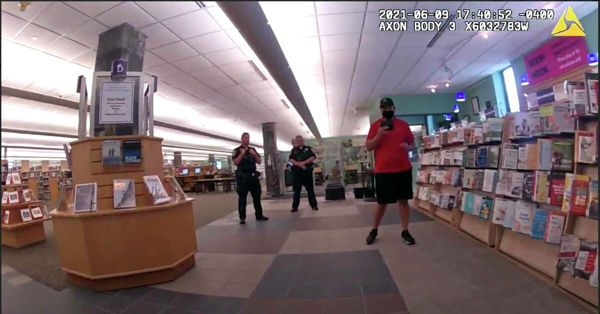 Footage from Danbury police's body cameras show police responding to YouTuber SeanPaul Reyes' attempts to film inside Danbury Library on June 9. The incident prompted a police internal investigation. The footage was released to Hearst Connecticut Media through a Freedom of Information Act request.