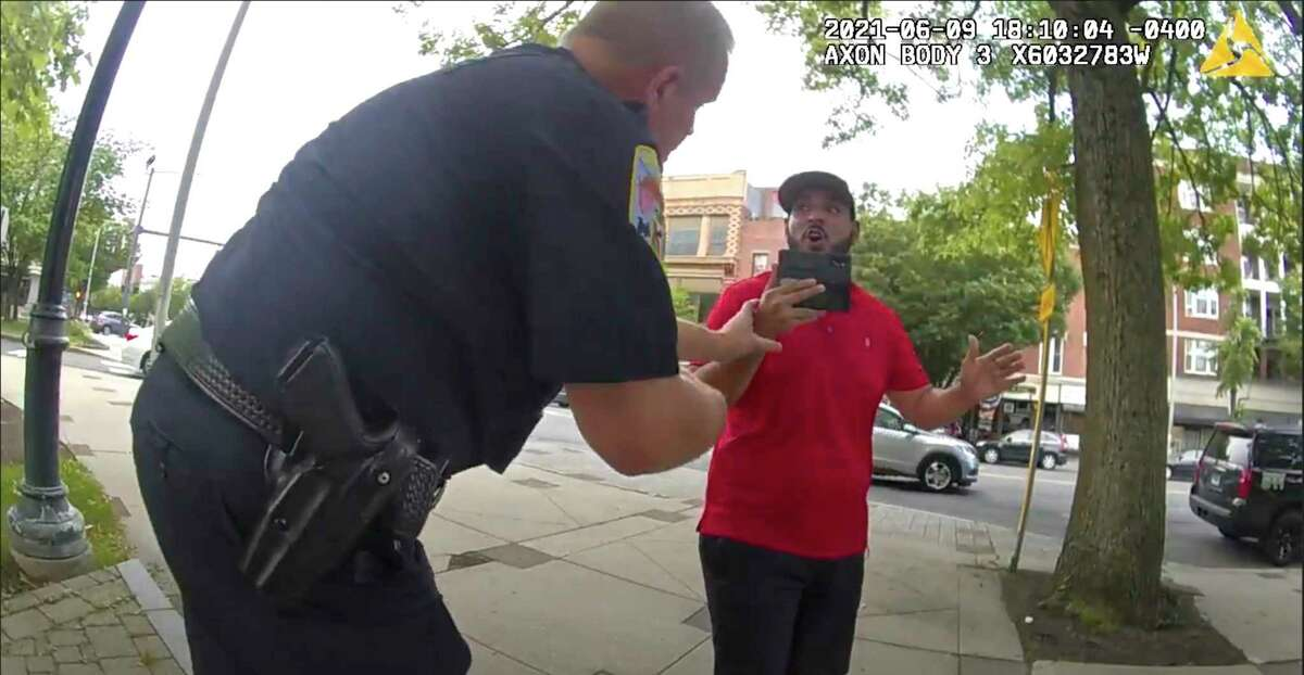 Footage from Danbury police's body cameras show police responding to YouTuber SeanPaul Reyes' attempts to film inside Danbury Library on June 9. The incident prompted a police internal investigation. The footage was released to Hearst Connecticut Media this past week through a Freedom of Information Act request.