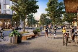Artistic renderings of Willow Village, Menlo Park, Calif.