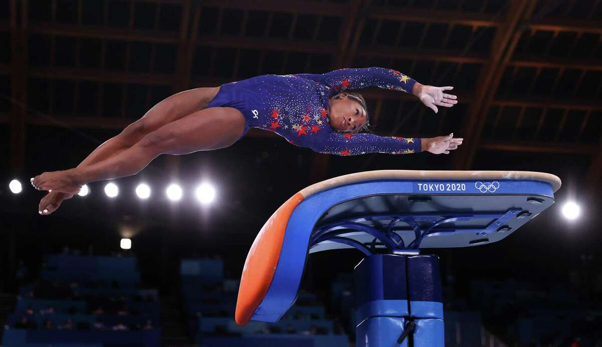 It will be Simone Biles, on the vault in Sunday's qualifying, and a lineup to be determined for the Tuesday team final.