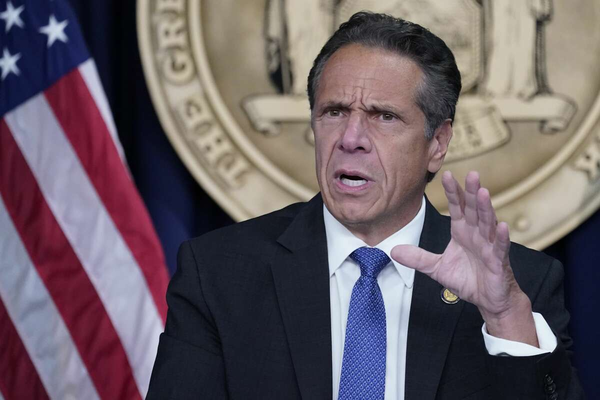 New York Gov. Andrew Cuomo speaks during a news conference earlier this year.