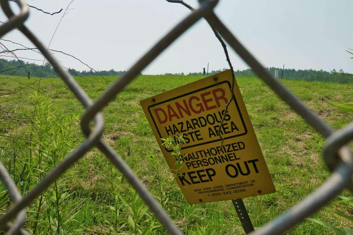 A view of the Dewey Loeffel Landfill on Monday, July 26, 2021, in Nassau, N.Y. (Paul Buckowski/Times Union)