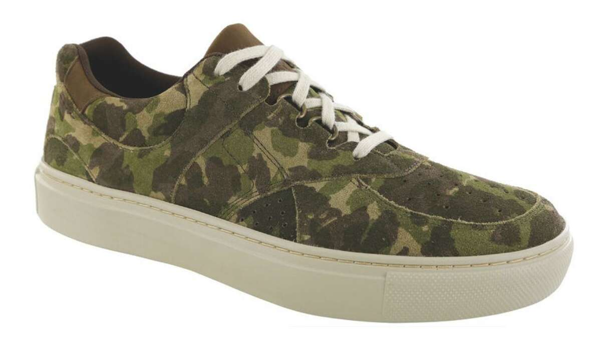 Used to be, you could have your SAS shoe in any color, as long as it was black, brown, white or bone. Today's new models come in a wide variety of more up-to-date hues such as almond suede, matte black, blue and, seen here in the men's High Street model, camo.