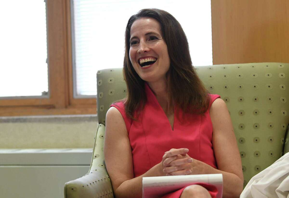 Dr. Thea Dalfino is interviewed at St. Peter's Hospital on Thursday, July 22, 2021 in Albany, N.Y. (Lori Van Buren/Times Union)