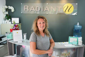 Radiant U Owner Amy Vargo poses for a portrait Monday inside the skin treatment center, located at 2906 N. Saginaw Road in Midland. (Katy Kildee/kkildee@mdn.net)