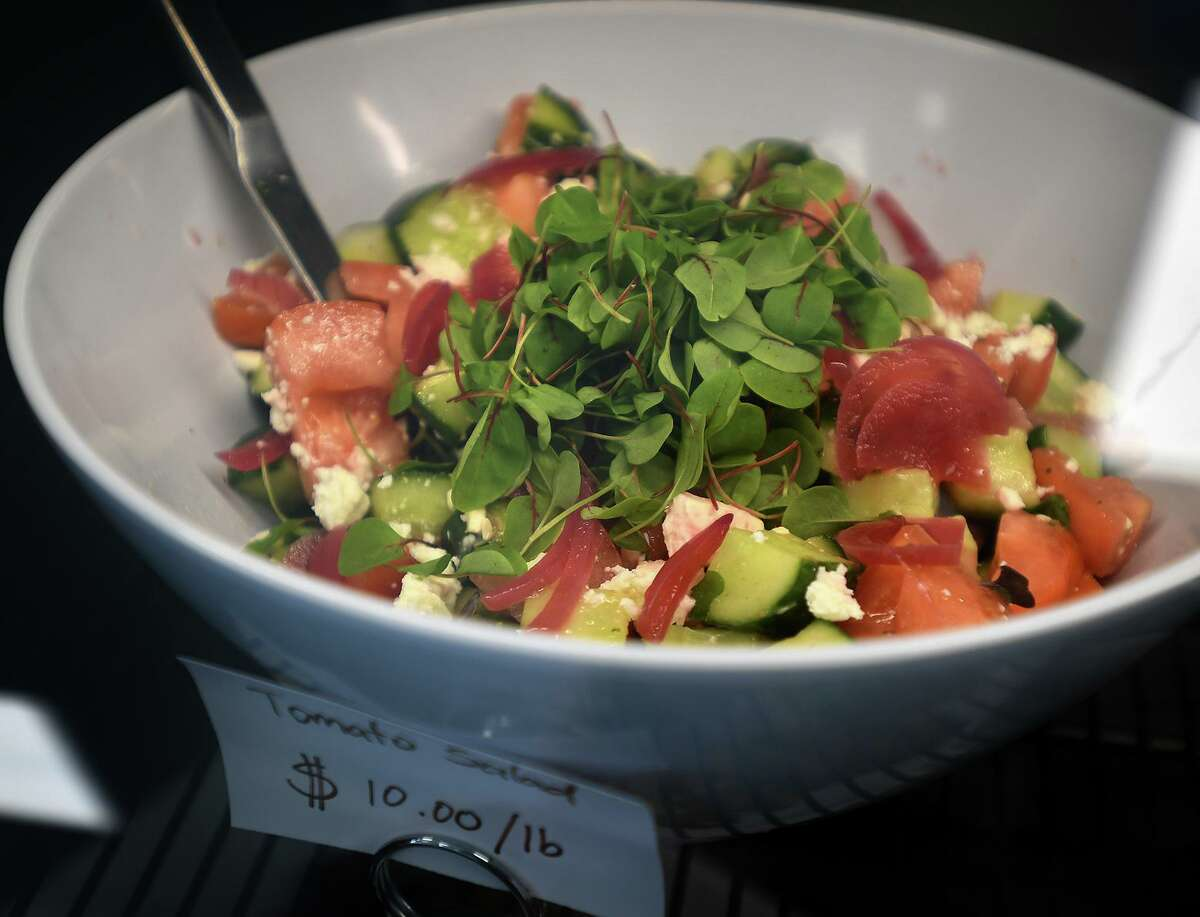 One of many fresh salads for sale at the new Nate's Plates eatery at 2 Schooner Lane in Milford, Conn. on Monday, July 26, 2021.