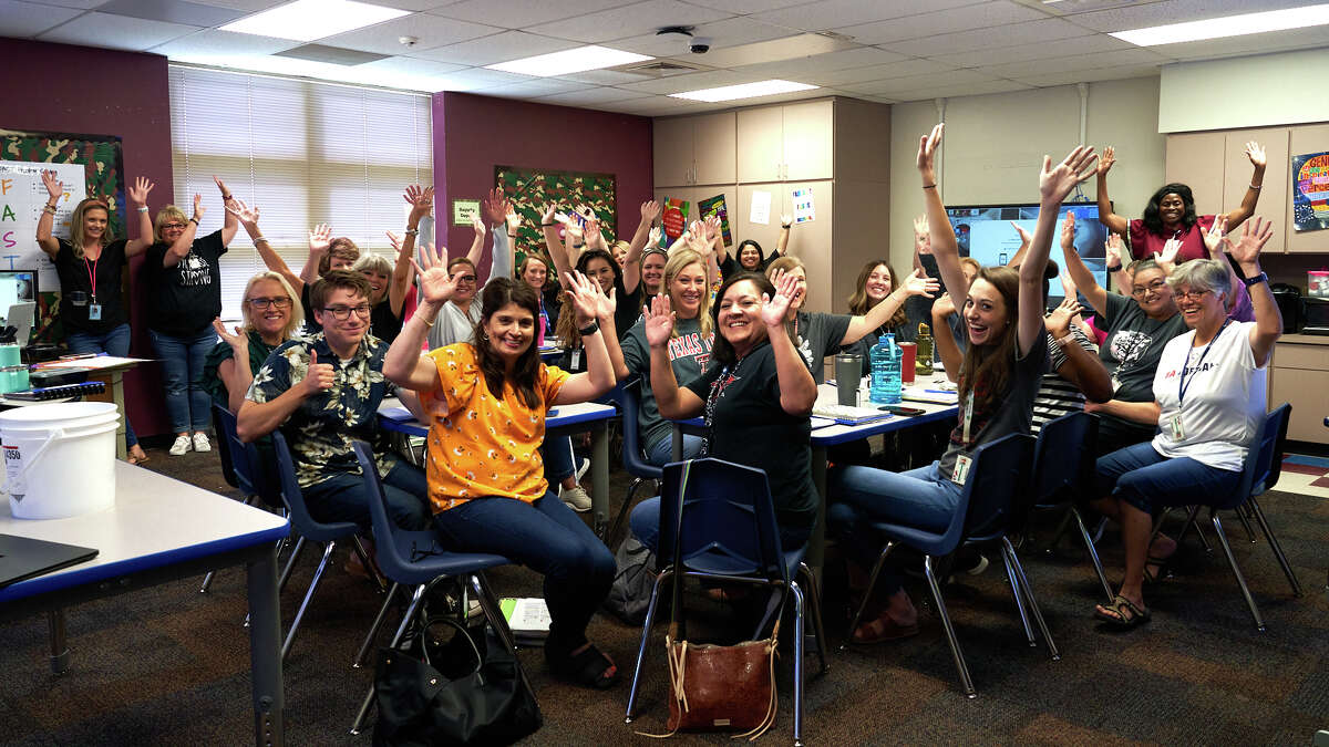 Teachers at Jones Elementary take a break from daylong training Monday, July 26, 2021. Monday was the first day of school for teachers across Midland ISD.