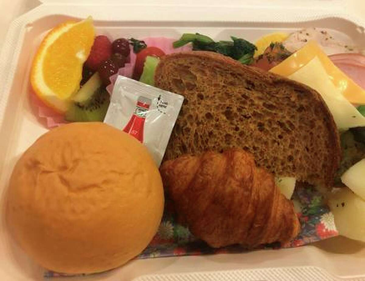 The breakfast choices for the media at the Olympics are limited, at best, but Ann Killion quickly found out that it's a good idea to take advantage of the meal.