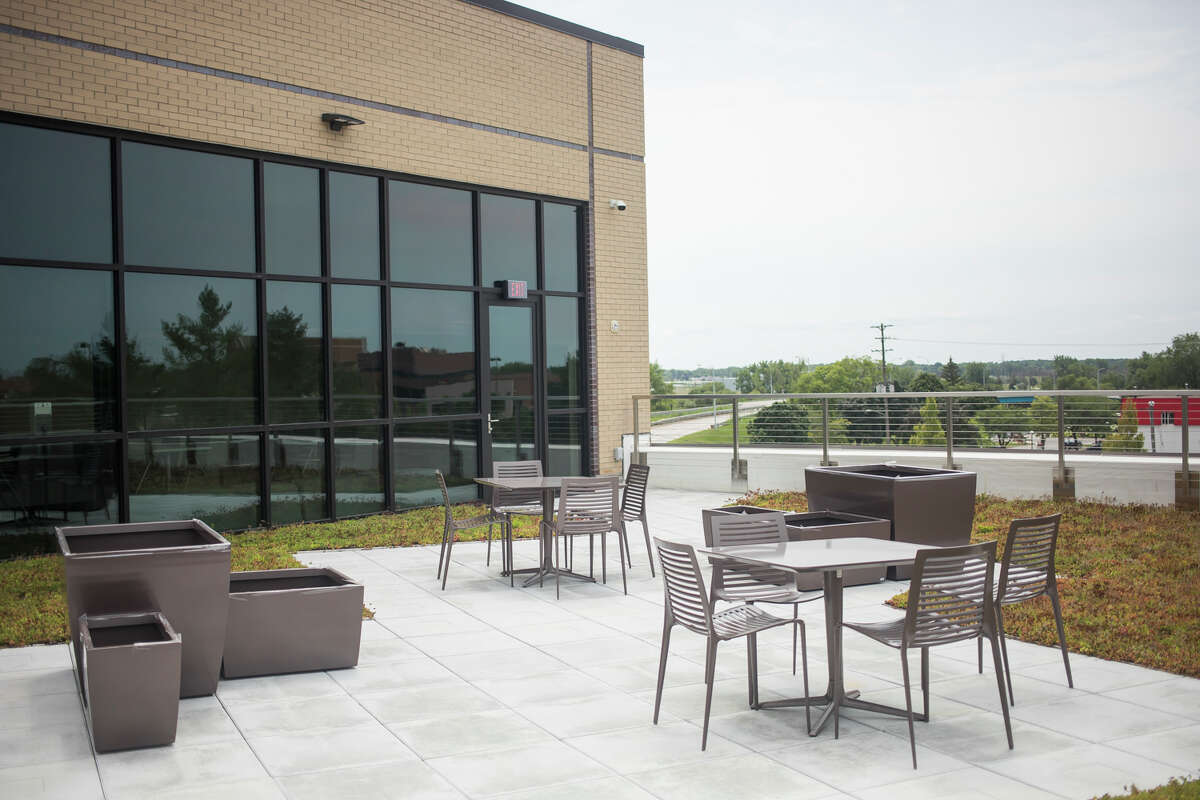 The newly constructed Delta College Downtown Midland campus is located at 419 E. Ellsworth Street. (Katy Kildee/kkildee@mdn.net)