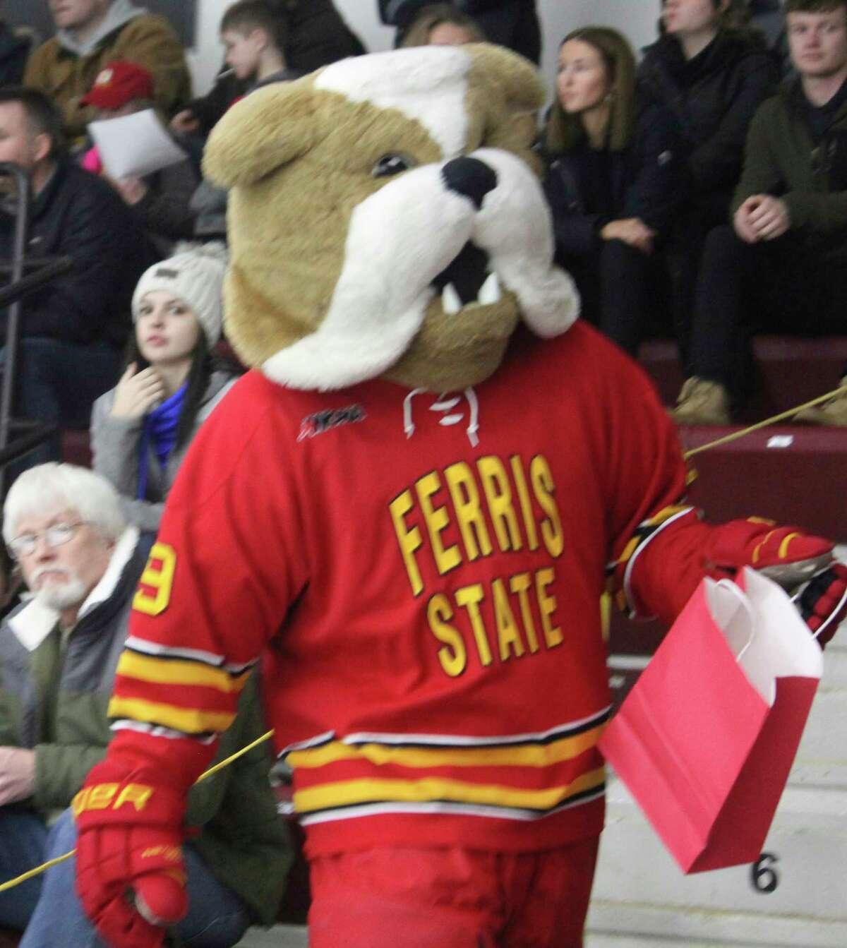 Brutus, the Bulldog mascot, and the Dawg Pound will return to the Ewigleben Ice Arena this season. (Pioneer file photo)
