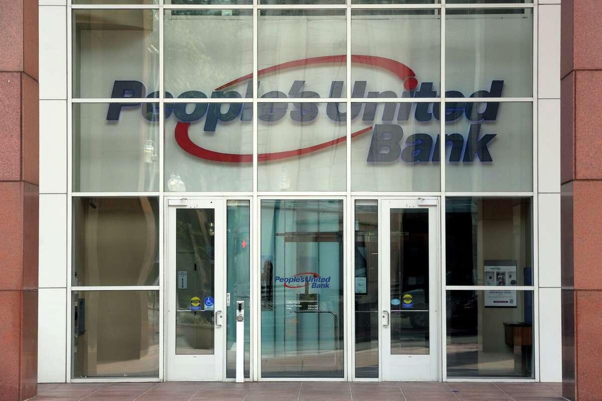 Bridgeport Center, Peoples United Bank's headquarters in Bridgeport July 26, 2021.