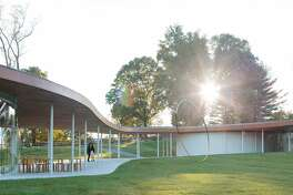 This is a rendering of the Alyson Shotz sculpture, which will be one of the many changes at Grace Farms in New Canaan when it reopens in September. Photo contributed July 2021