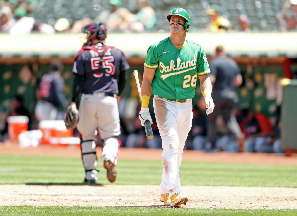 Oakland third baseman Matt Chapman's 31% strikeout rate is the second highest among qualified hitters this season.