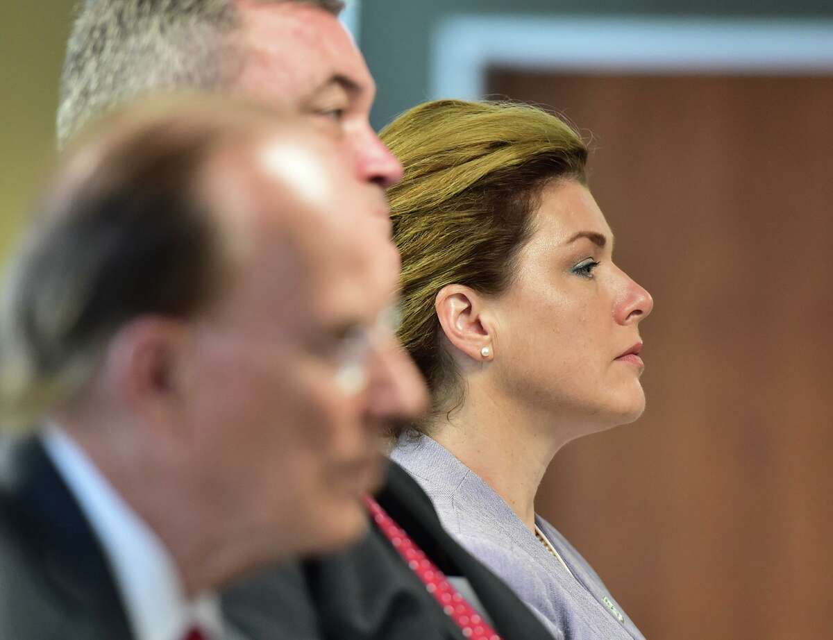 Dr. Emily Kidd, Texas medical director for Acadian Ambulance, listens during a news conference highlighting the expansion of the Specialized Multidisciplinary Alternate Response Team, or SMART, Monday morning.
