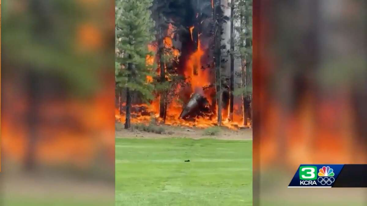 A small plane crashed in Truckee, California, July 26, 2021, the Federal Aviation Administration said.