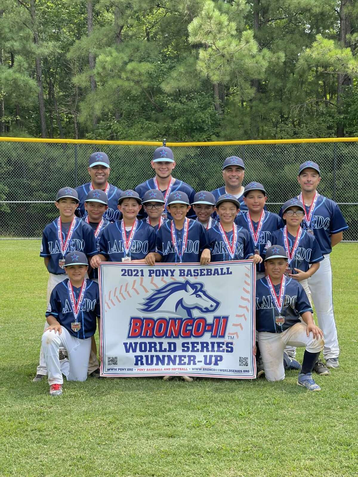 The Laredo PONY 11U team fell in the championship game Monday to finish as the runner up in the PONY Bronco 11U World Series in Chesterfield, Virginia.
