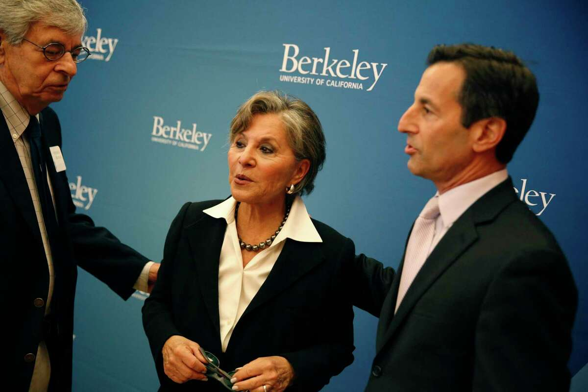 Former California Sen. Barbara Boxer (center) was pushed and robbed Monday in downtown Oakland.