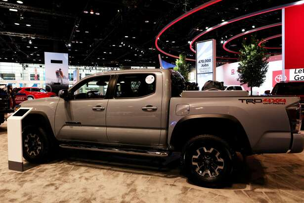 """CHICAGO - FEBRUARY 07: 2020 Toyota Tacoma TRD 4x4 is on display at the 112th Annual Chicago Auto Show at McCormick Place in Chicago, Illinois on February 7, 2020. (Photo By Raymond Boyd/Getty Images)""""n"""