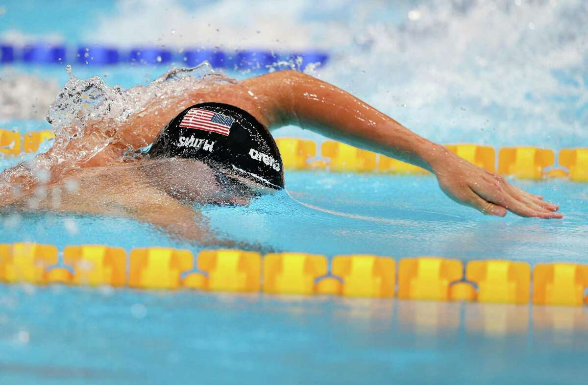 TOKYO, JAPAN - JULY 27: Kieran Smith of Team United States competes in the Men's 200m Freestyle Final on day four of the Tokyo 2020 Olympic Games at Tokyo Aquatics Centre on July 27, 2021 in Tokyo, Japan. (Photo by Maddie Meyer/Getty Images)