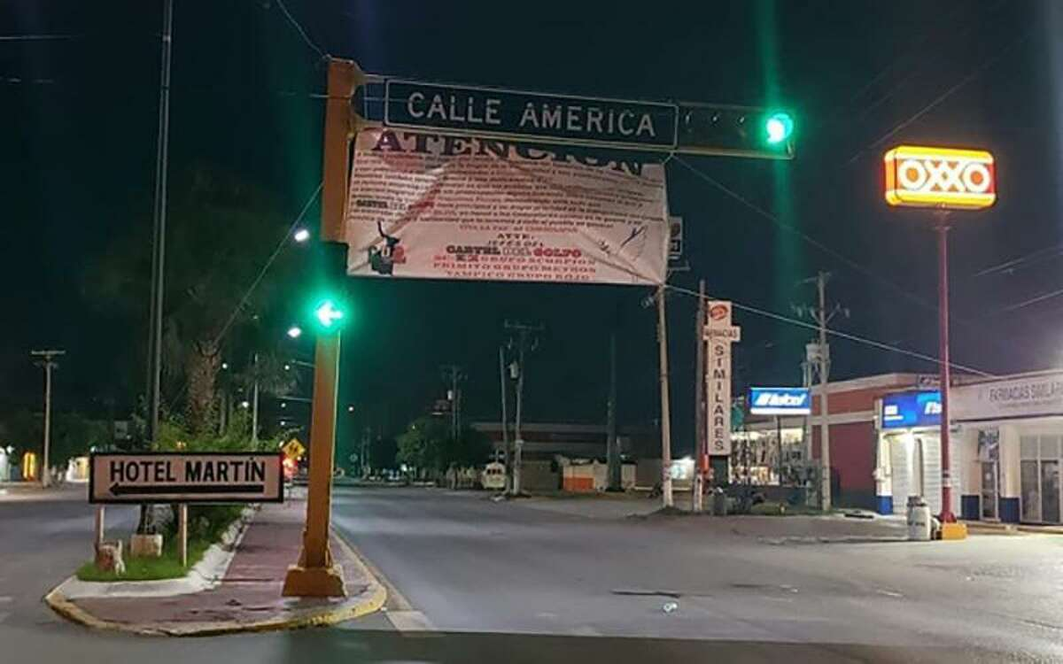 Mensajes del Cártel del Golfo anunciando una tregua fueron colocadas en diferentes ciudades del estado mexicano de Tamaulipas.