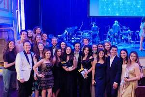 Darien High's Theatre 308's cast and crew who were able to attend the Sondheim Awards earlier this month.