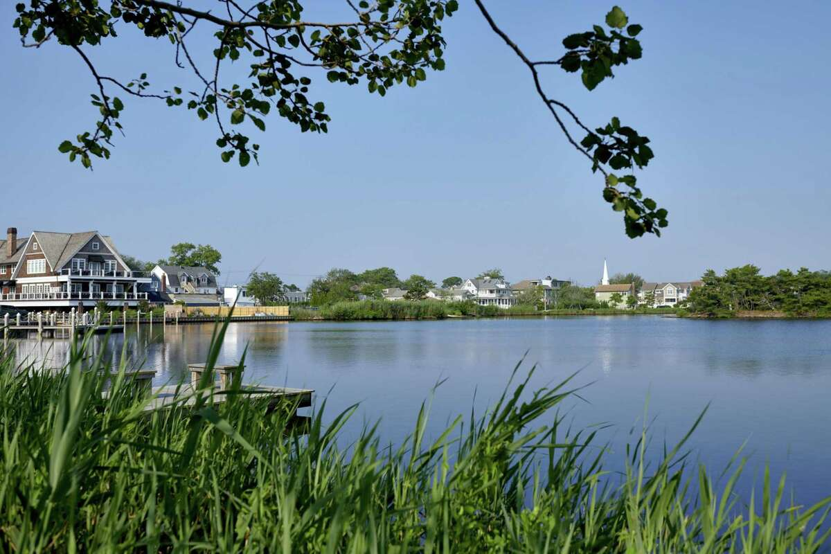 Twilight Lake, a tributary to Barnegat Bay, in Bay Head, N.J., on July 17, 2021.
