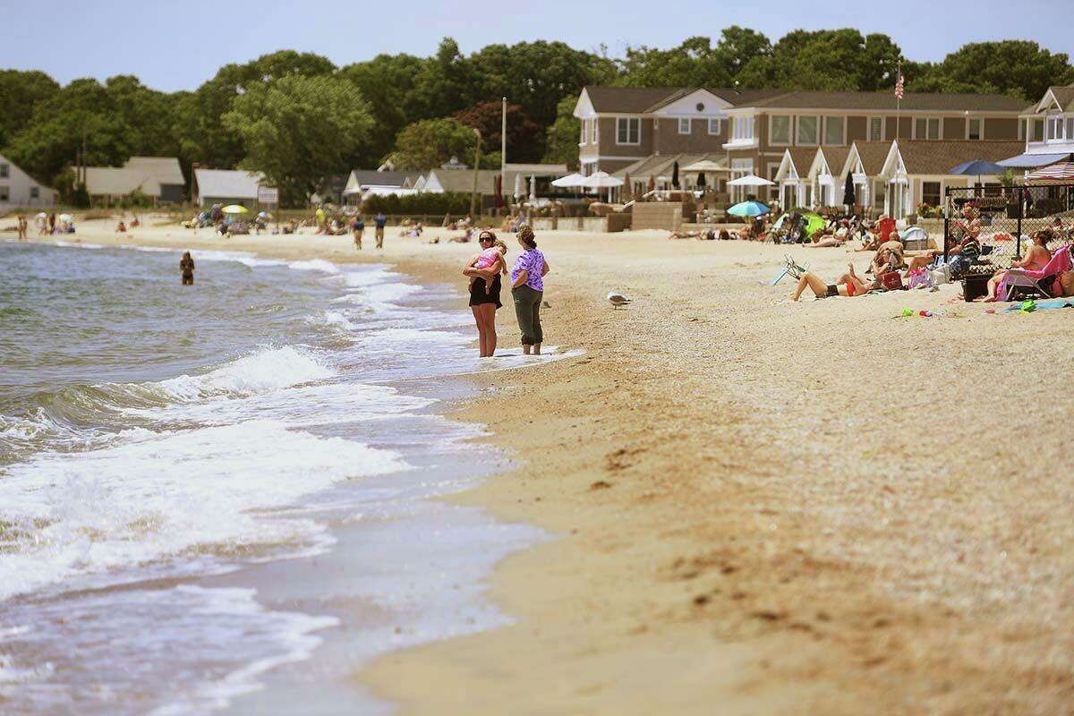 Sound View Beach in Old Lyme is one of the few beaches in the state open to all people no matter where they are from.