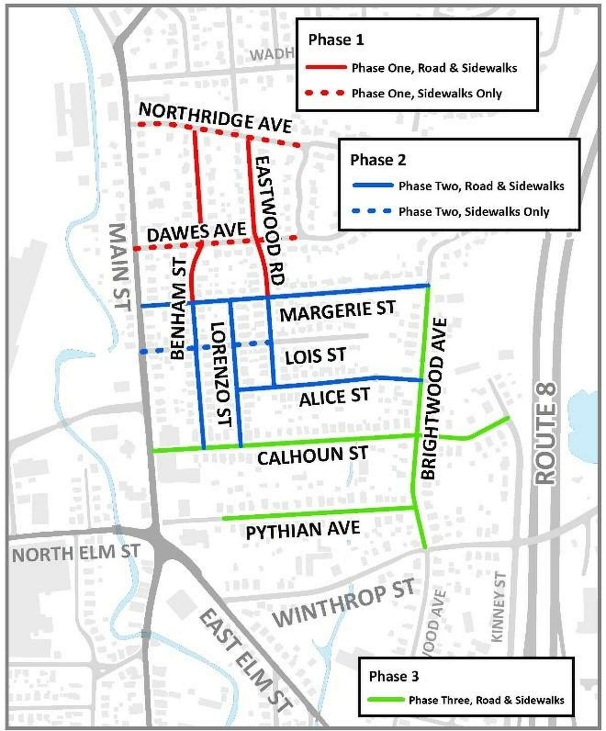"""City officials said this week that road construction activities are expanding into Phase 2 of the """"City North Reconstruction"""" project."""