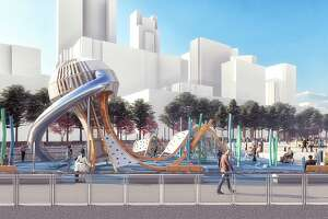 Renderings of the new park at Pier 58.