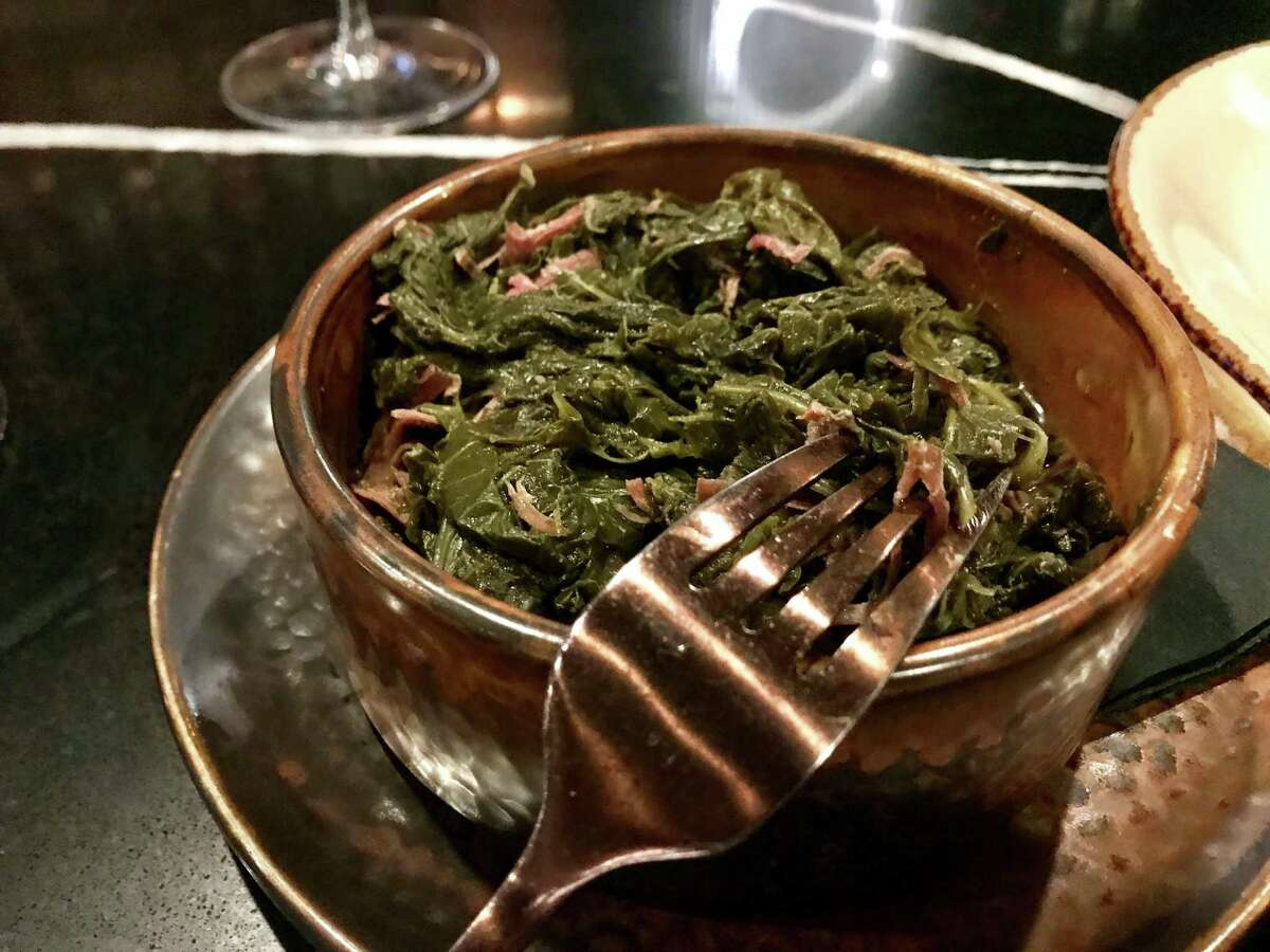 Braised collard greens with smoked turkey make for an excellent side dish.