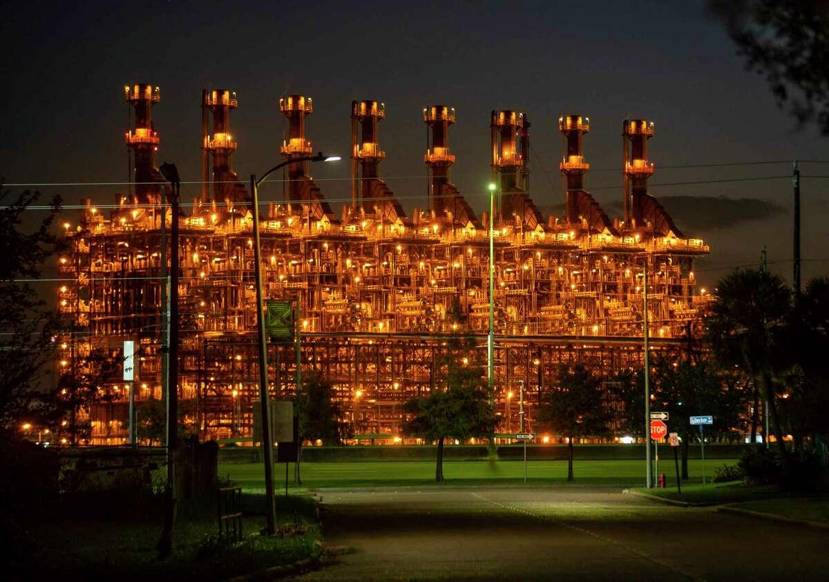 Part of the ExxonMobil facility in Baytown, TX, Wednesday, Nov. 11, 2020.