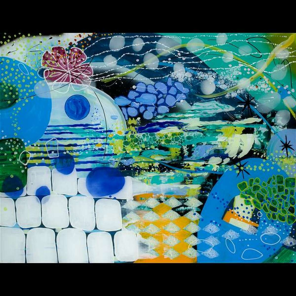 Pictured is the work of Sharon Aach.