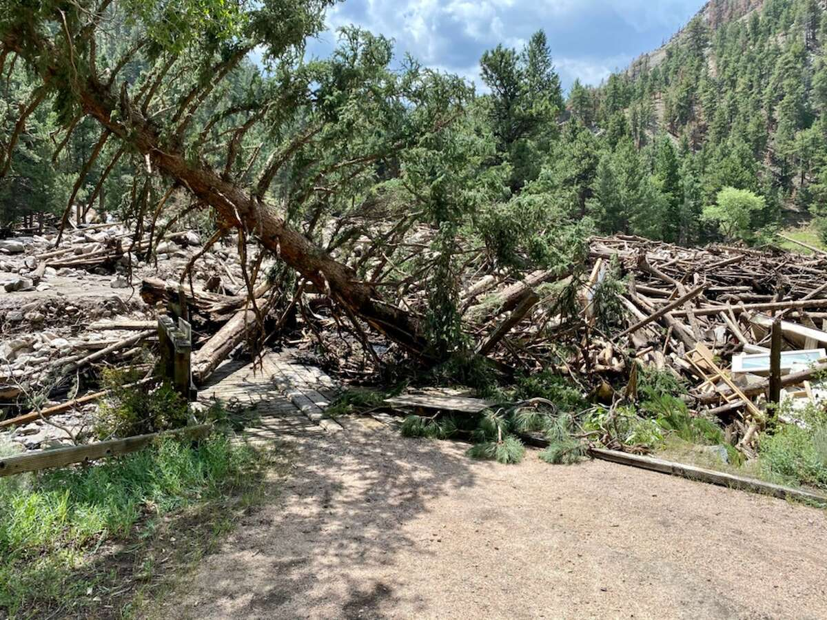 Debris and damage is seen in Poudre Canyon after the July 20 mudslide.