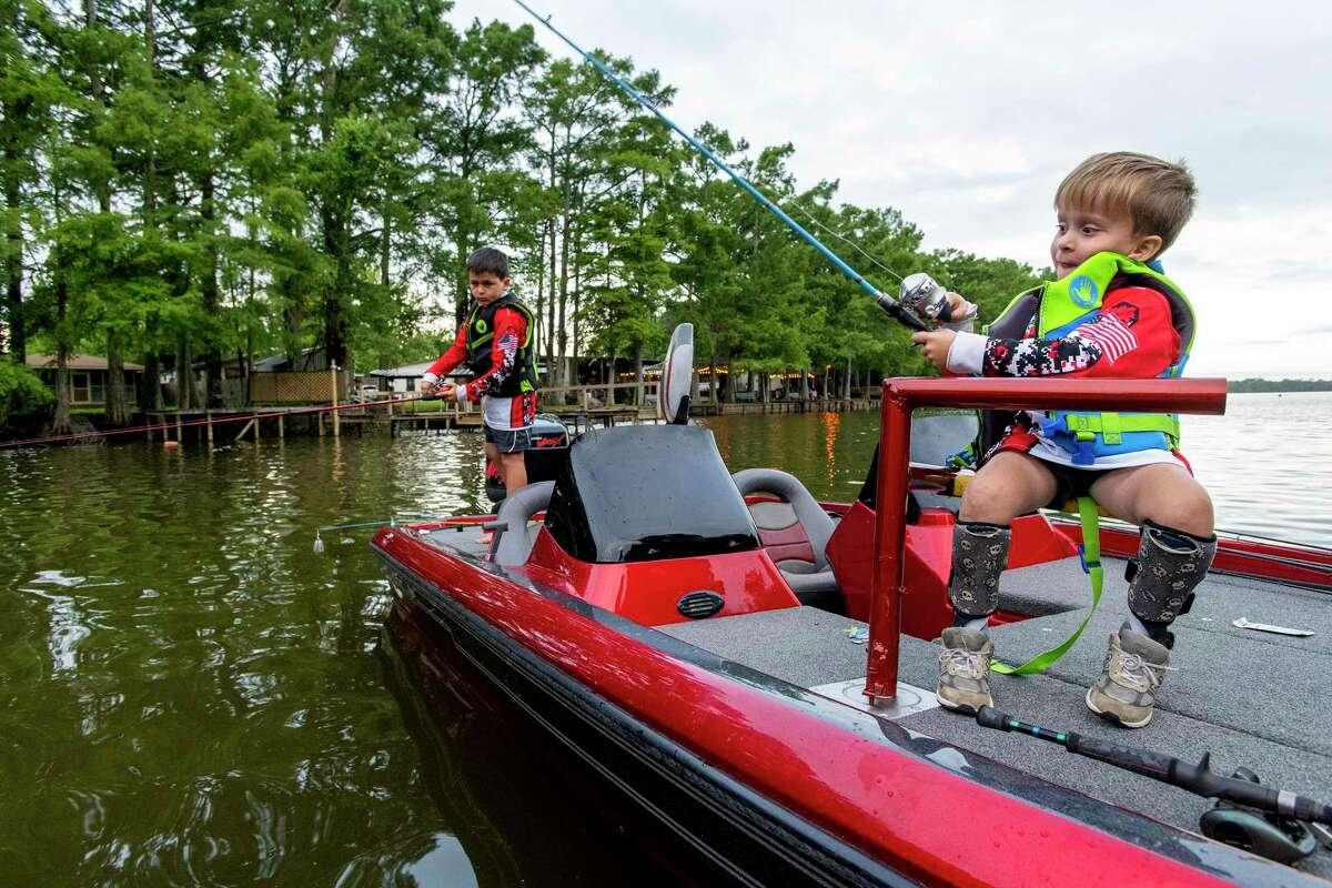 Grayson Canezaro at a fishing tournament.