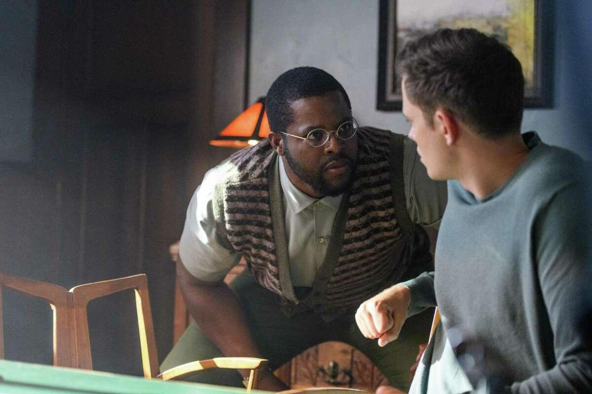 """From left, Winston Duke as Will, Bill Skarsgård as Kane in """"Nine Days."""""""