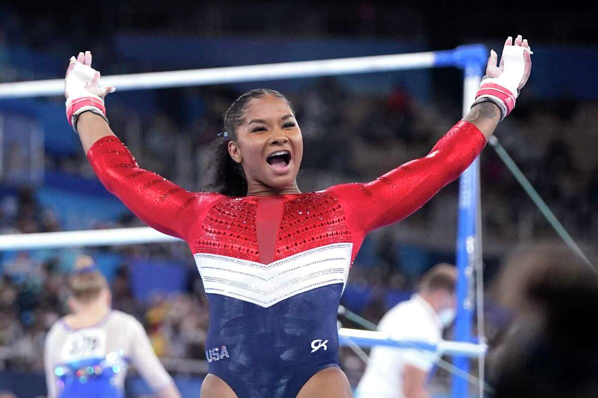 Jordan Chiles had a strong performance on the uneven bars as she stepped in to help the U.S. win a silver after Simone Biles withdrew from the event.