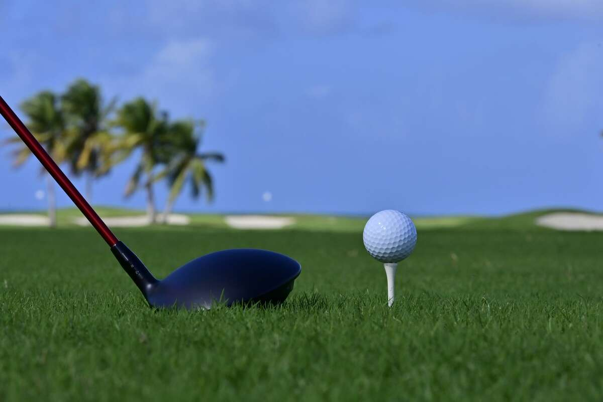 FILE - Golfball and driver on the12th tee at the Coco Beach Championship course on December 18, 2019. (Photo by John McCoy/Getty Images)