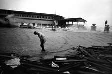 """Eighteen years after the """"surprise hurricane"""" of 1943, Galveston and beachside communities were rocked by Hurricane Carl in 1961."""