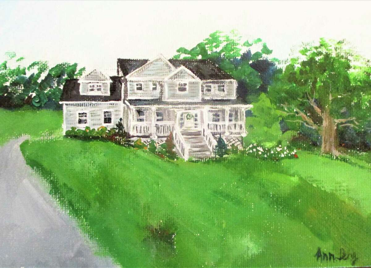 A portrait of a home painted by Ann Peng.