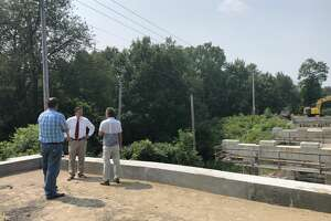 Delays in getting materials and labor shortages have slowed construction on the Ashdown Bridge in Clifton Park.