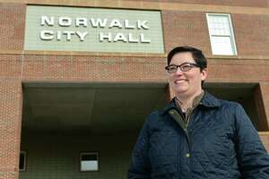Dominique Johnson at Norwalk City Hall, Saturday, January 18, 2020, in Norwalk, Conn. Johson was chosen on Monday by the DTC to fill Colin Hosten's spot on the Common Council.