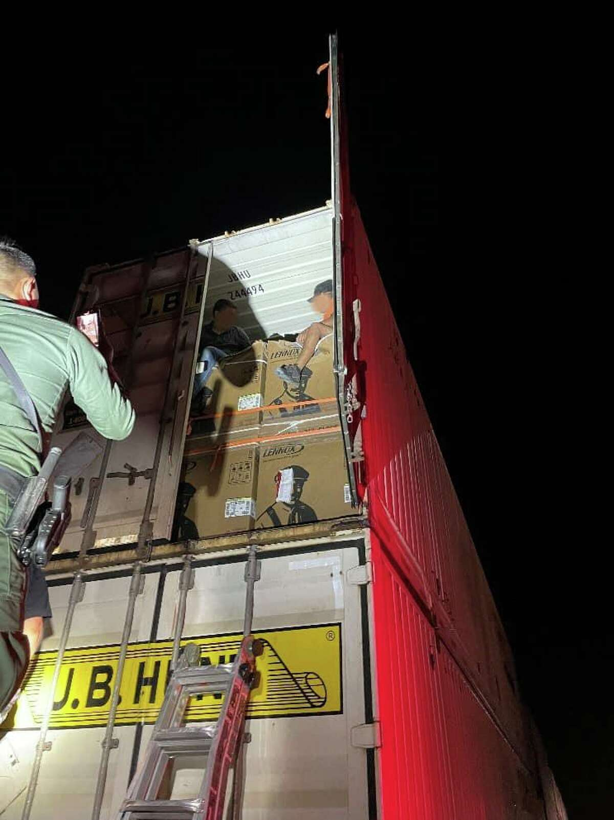 The U.S. Border Patrol announced 20 migrants were found inside a train near Hebbronville on Monday morning.